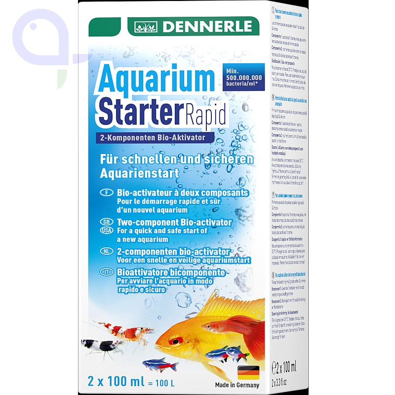 Dennerle Aquarium Starter Rapid 2 x 100 ml