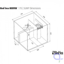 Red Sea filter sump for Reefer 170