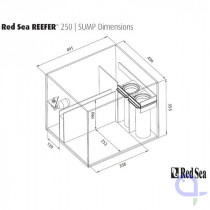 Red Sea filter sump for Reefer 250